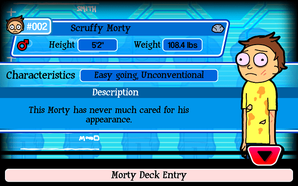 Scruffy Morty Pocket Mortys