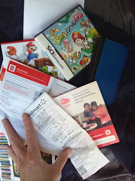 Nintendo 3DS XL and Mario Games Walmart Warranty