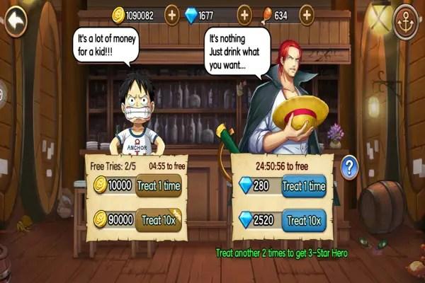 Pirate Warriors Summons Screen
