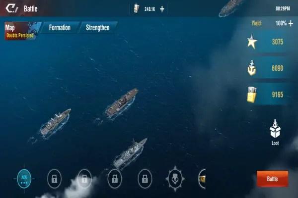 Warship Legend Idle Screen