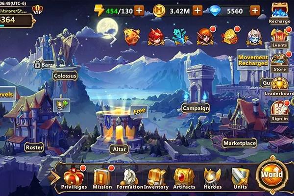 Era of Chaos main screen