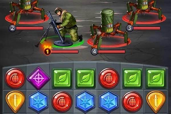 Puzzle Combat combat screen