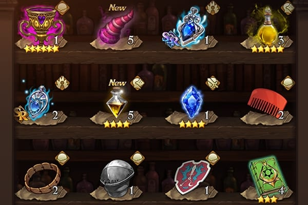 Seven Deadly Sins Grand Cross inventory