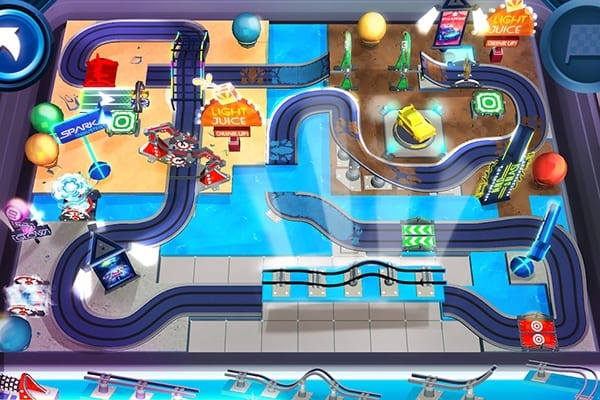 RaceCraft building a track