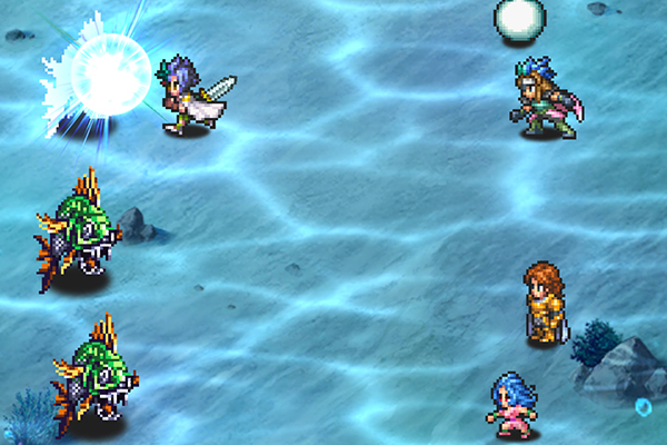 Romancing SaGa Re;univerSe battle screen