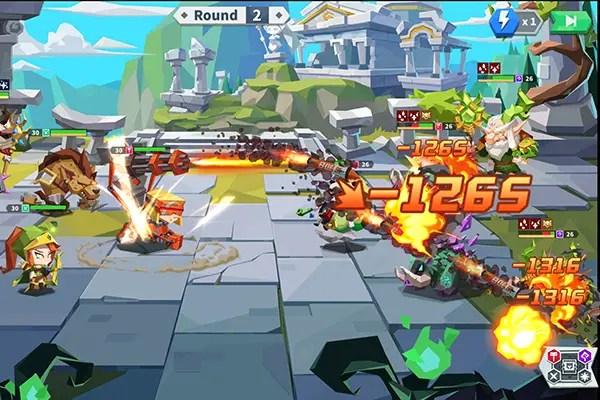 Epic Summoners 2 battle screen