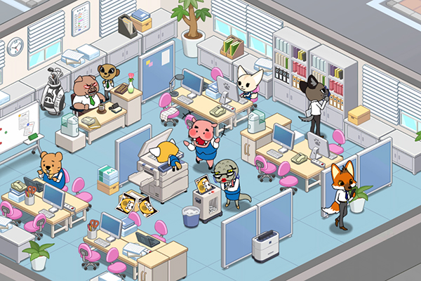 Aggretsuko accounting office