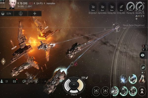 EVE Echoes Android Game Screen