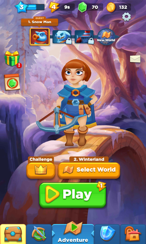 Android Bow Land Main Menu