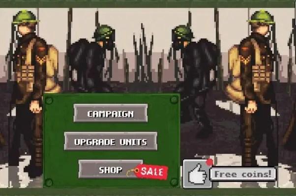 Game's main menu
