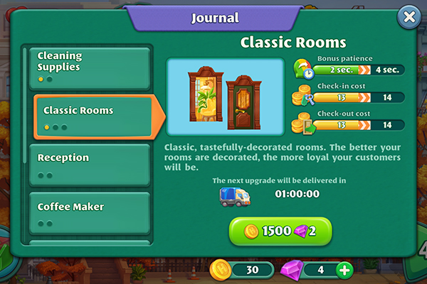 Android Grand Hotel Mania hotel upgrades