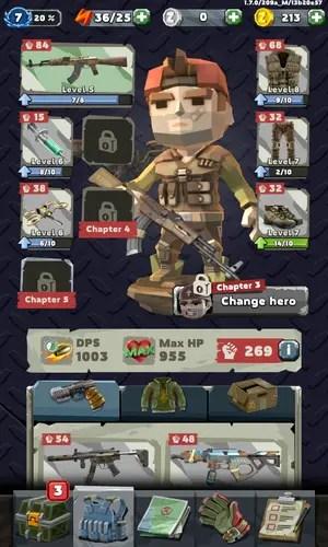 Zombero: Archero Killer Character Screen