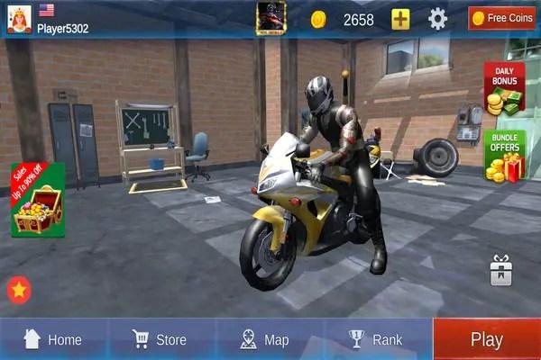 Biker Gang: Highway Death Moto Menu