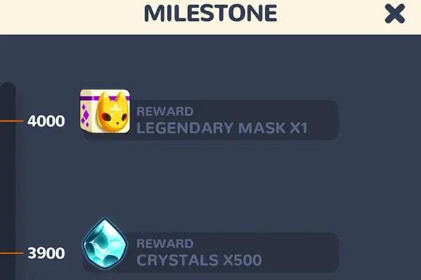 Masketeer milestone tracker