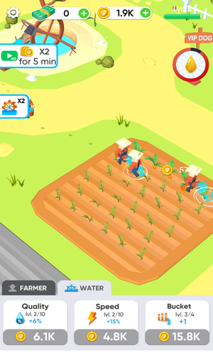 Android Idle Farming Game Screen