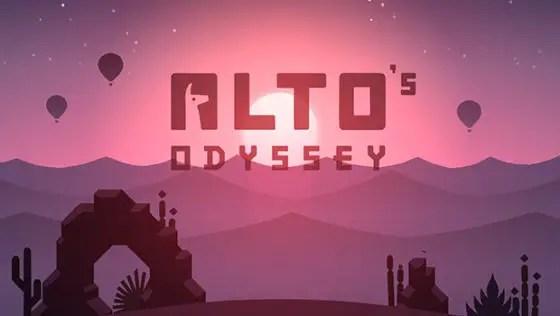 Alto's Odyssey title screen