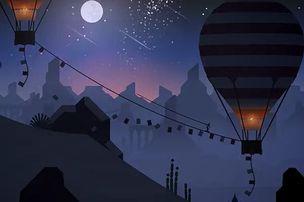 Alto's Odyssey hot air balloons and rain
