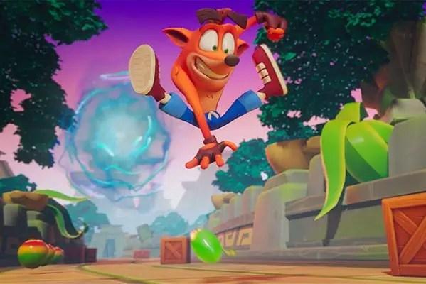 Crash On The Run cutscene frame