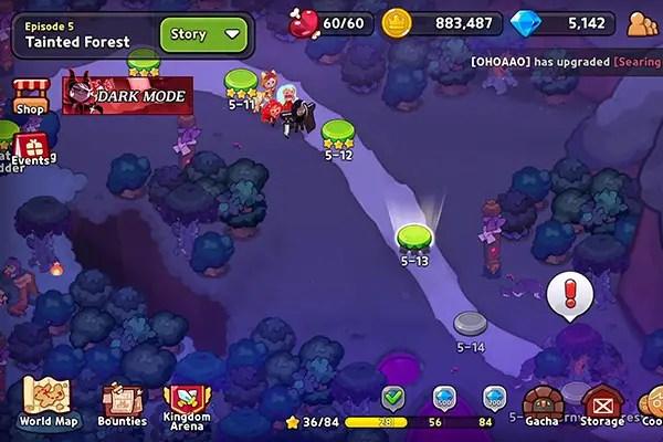 Cookie Run: Kingdom story mode map