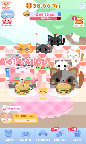 Greedy Cats Eating Competition