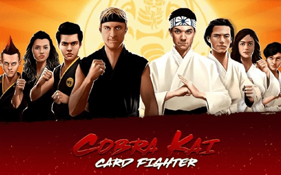 Cobra Kai: Card Fighter Title Screen