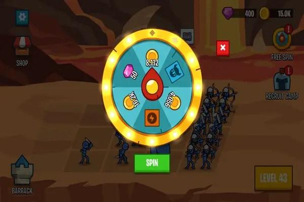 Stick Wars 2: Battle of Legions roulette wheel