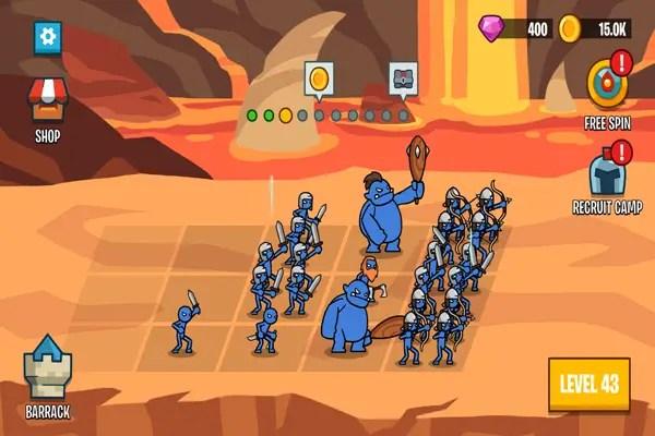 Stick Wars 2: Battle of Legions troop setup