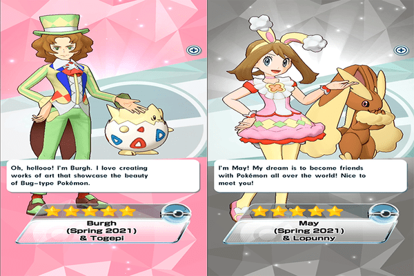 Pokémon Masters EX Spring Outfits