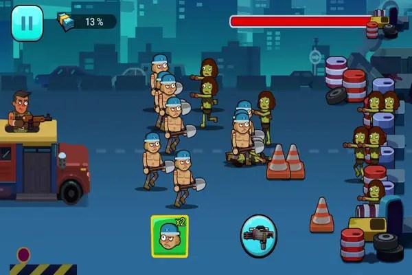 Among the Zombie battle screen