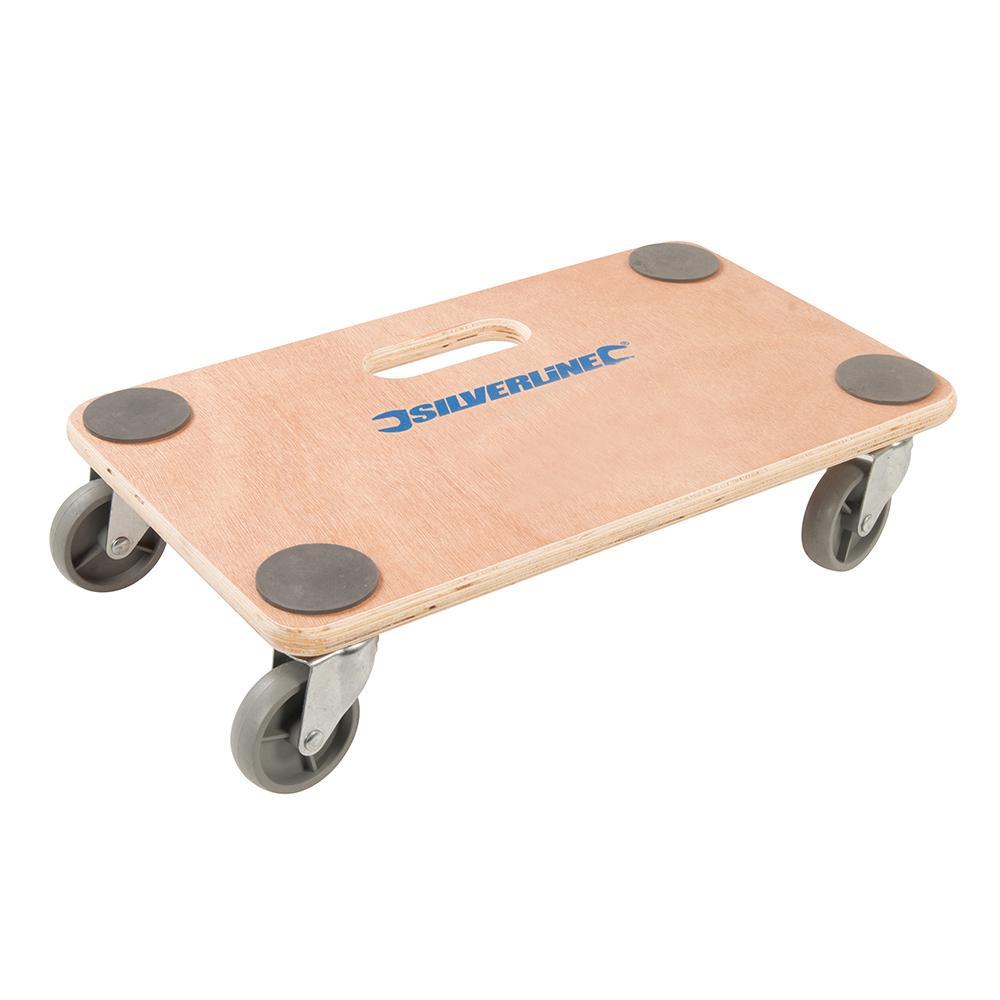 Chariot plateforme  planche  roulettes Silverline 647896