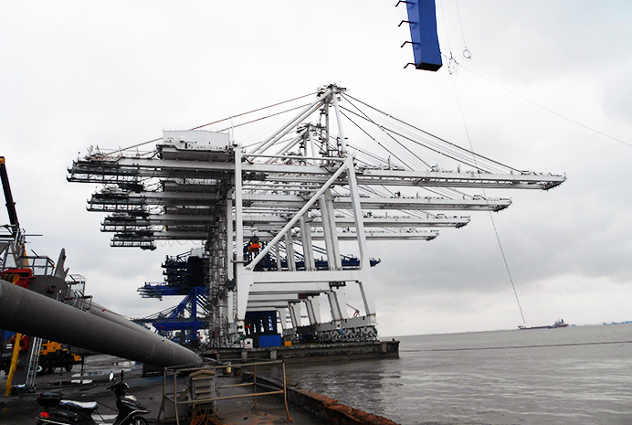 Dockside Container Handling Gantry Cranes for Seagirt