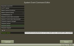 mythtvsetup events screen
