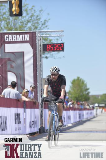 Crossing the DK finish line