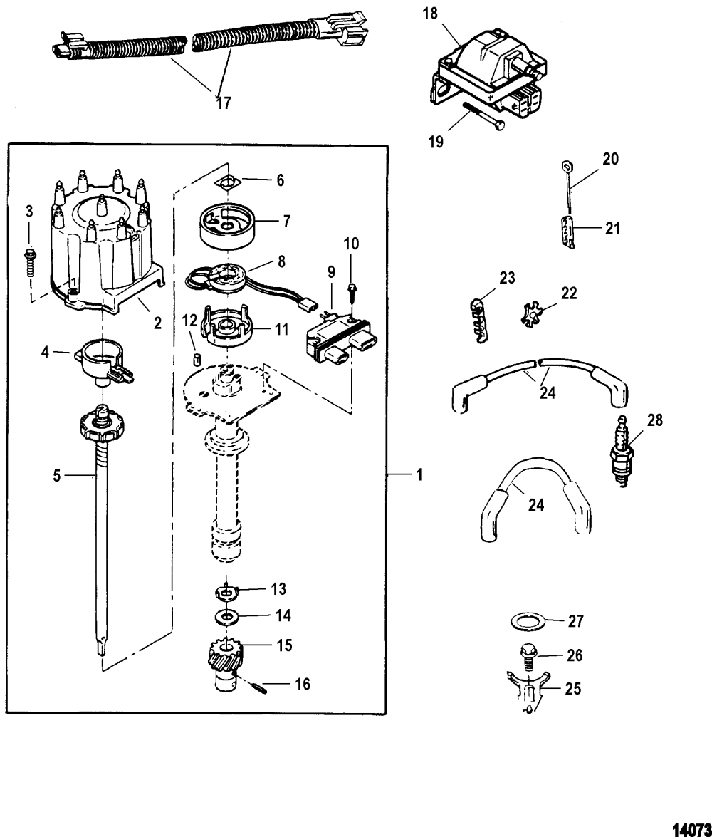 medium resolution of hardin marine distributor and ignition components7 4lx mpi bravo gen 6 gm 454 v