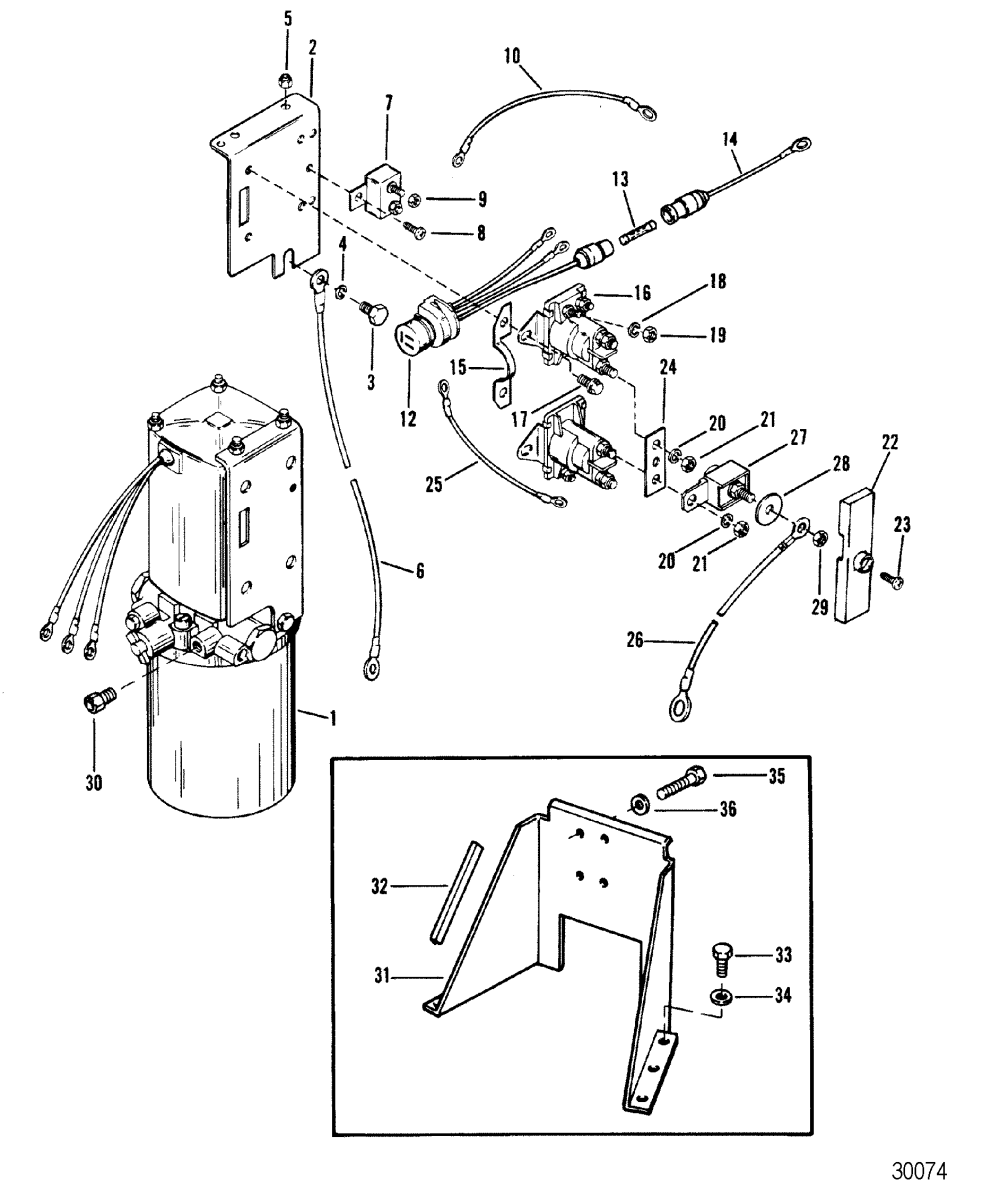 medium resolution of hardin marine hydraulic pump and bracket oildyne pump metal reservoir volvo penta trim wiring diagram oildyne