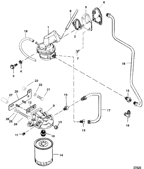 small resolution of 5 7l gm 350 v 8 1988 1995 serial 0b525982 thru 0f600999 fuel pump and fuel filter