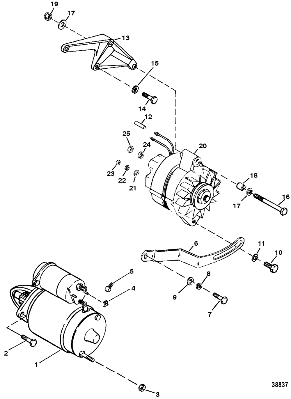 medium resolution of hardin marine starter and alternator7 4l bravo gen 5 gm 454 v 8 1992