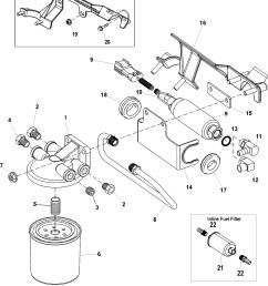 hardin marine fuel filter and boost pump 496 mag ho model serial 0m687144 thru 0w059999 fuel [ 1916 x 2294 Pixel ]
