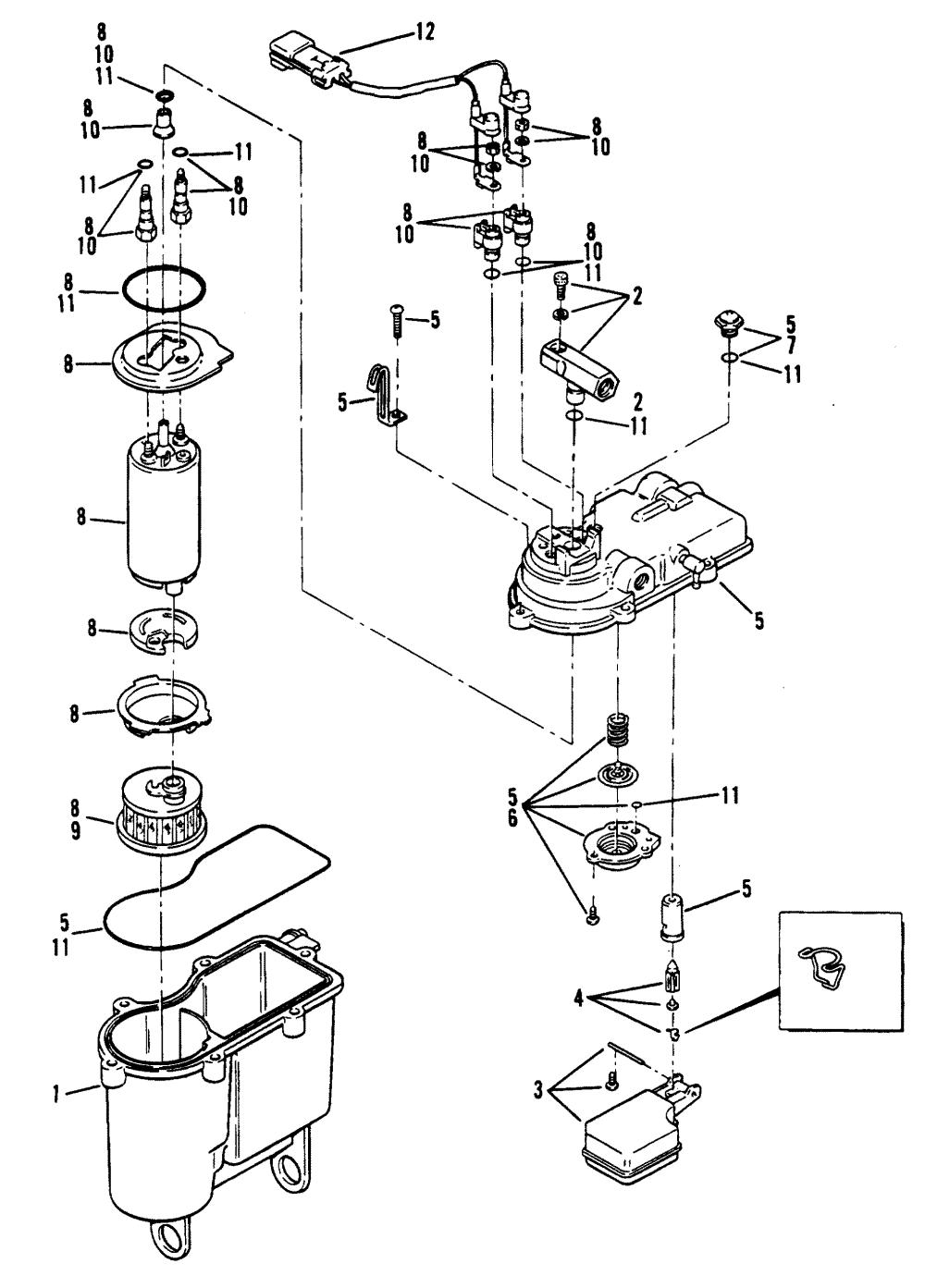 medium resolution of hardin marine vapor separator tank mercruiser 0f415189 thru 0f601999 1995 alternator mando diagram