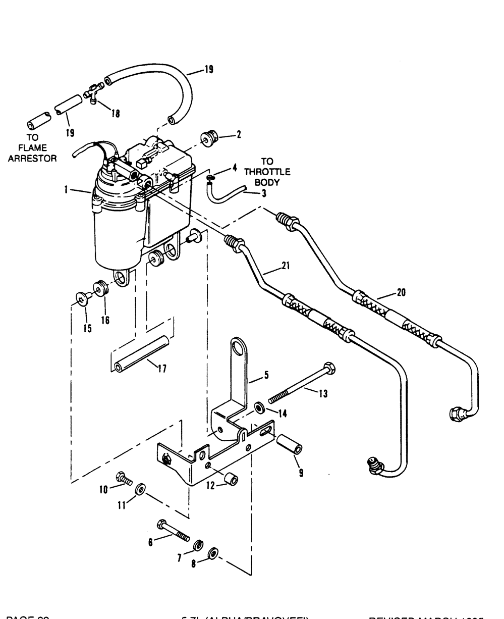 medium resolution of hardin marine vapor separator tank and fuel lines 1988 jeep cherokee fuel line diagram section drawing