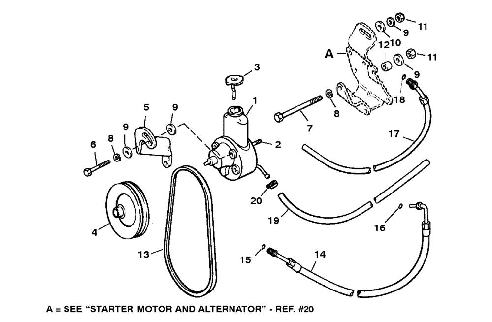 medium resolution of 5 7l efi 2 bbl tbi gm 350 v 8 1996 serial 0f752400 thru 0k001505 power steering components