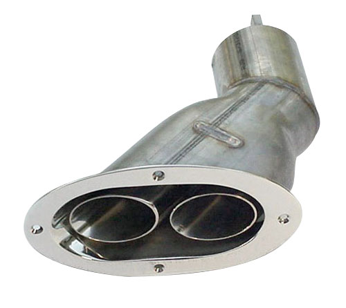 4 40 degree side exit oval exhaust tips