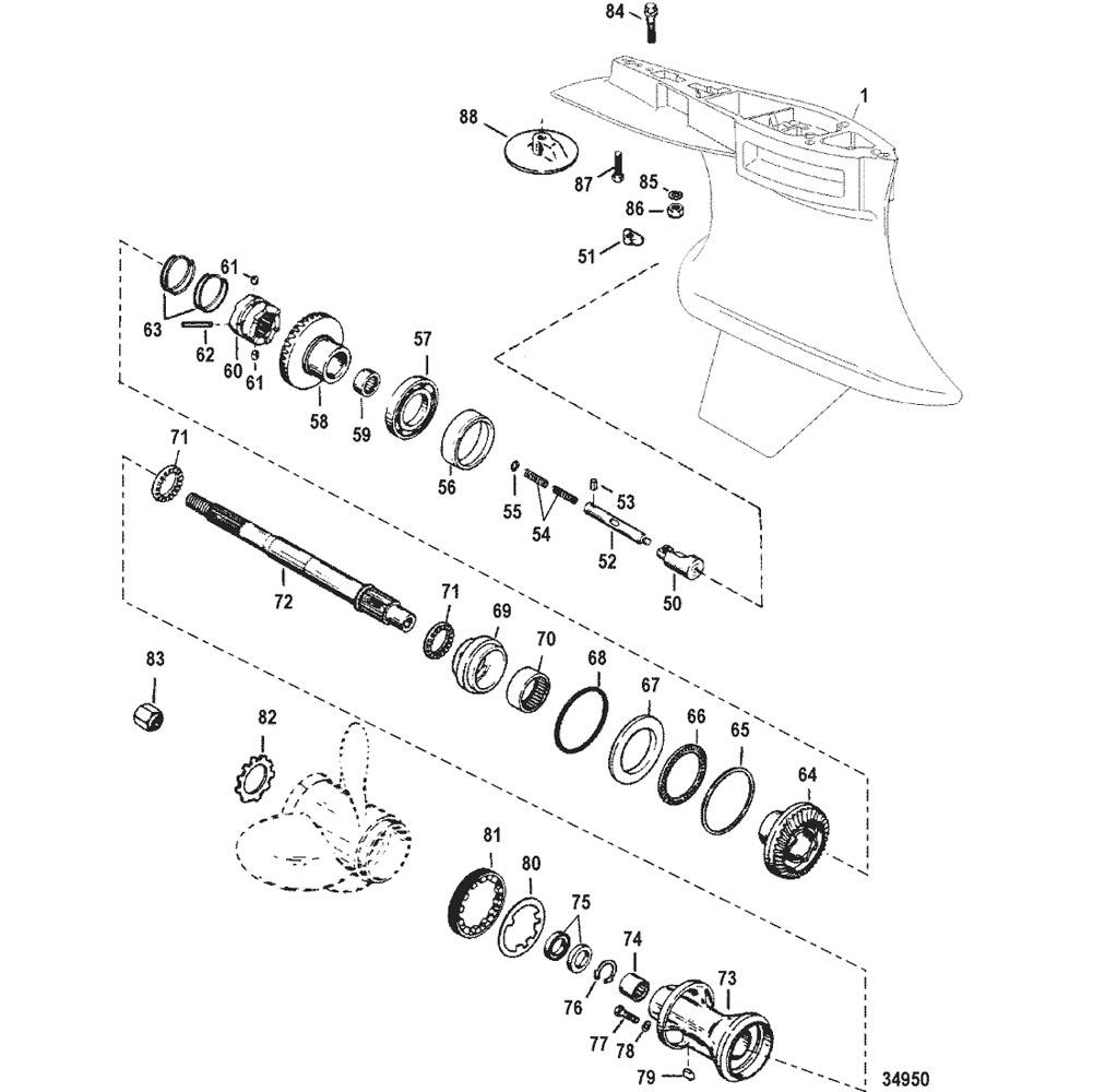 Hardin Marine - Gear Housing, Propeller Shaft