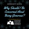 Generosity month #1(1)