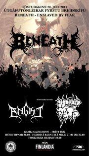 Beneath - Enslaved by fear útgáfutónleikar