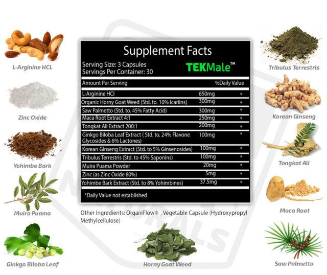 TekMale ingredients