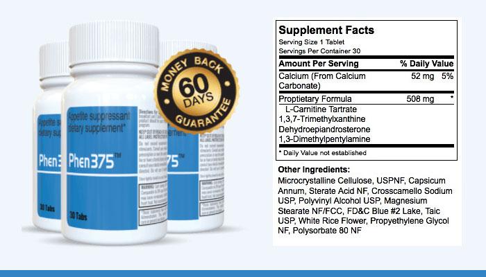 Phen375 supplement facts