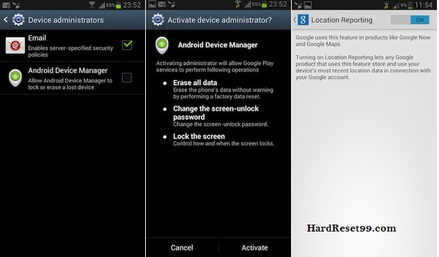 Sony Xperia Password Recovery With Android Device Manager