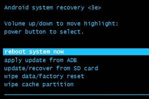 Hard reset - Reboot System now