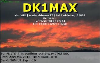 EQSL_DK1MAX_20160424_050000_30M_JT65_1